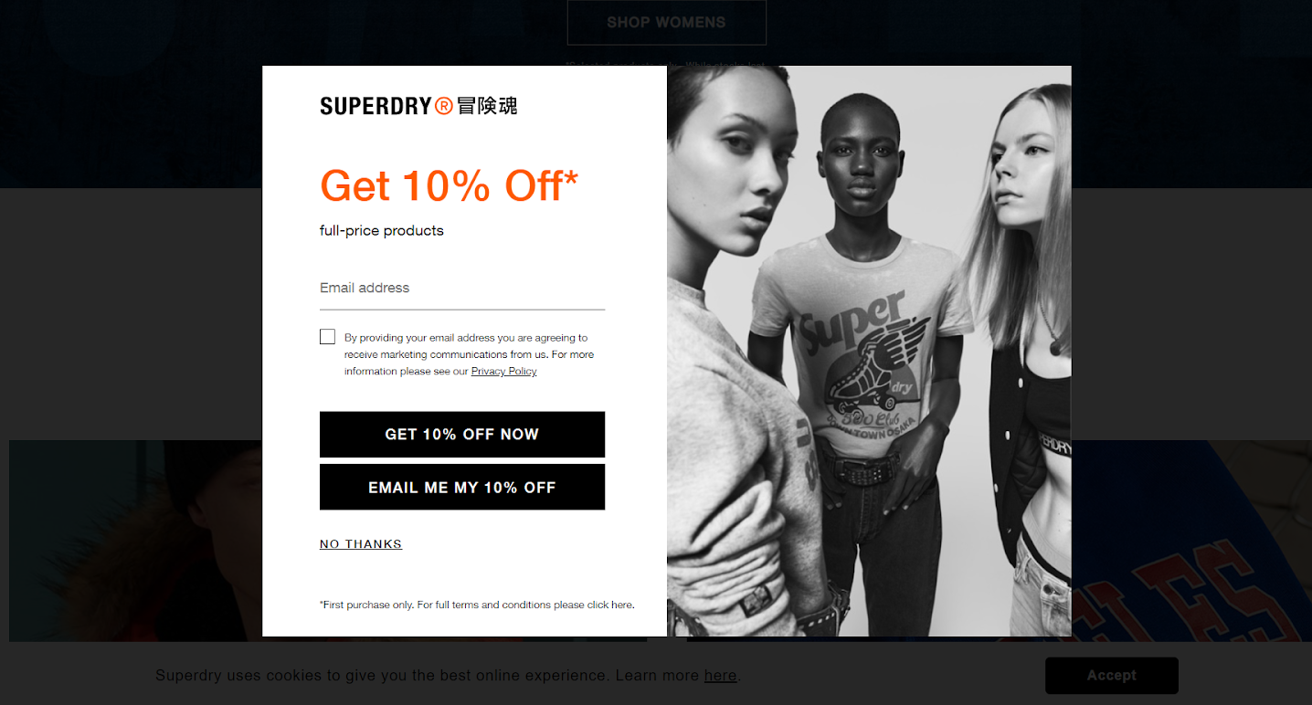 Superdry discounts